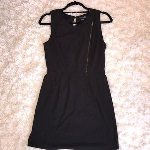 Black dress with lining and zipper detail